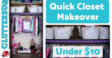 Quick Closet Makeover for Under !