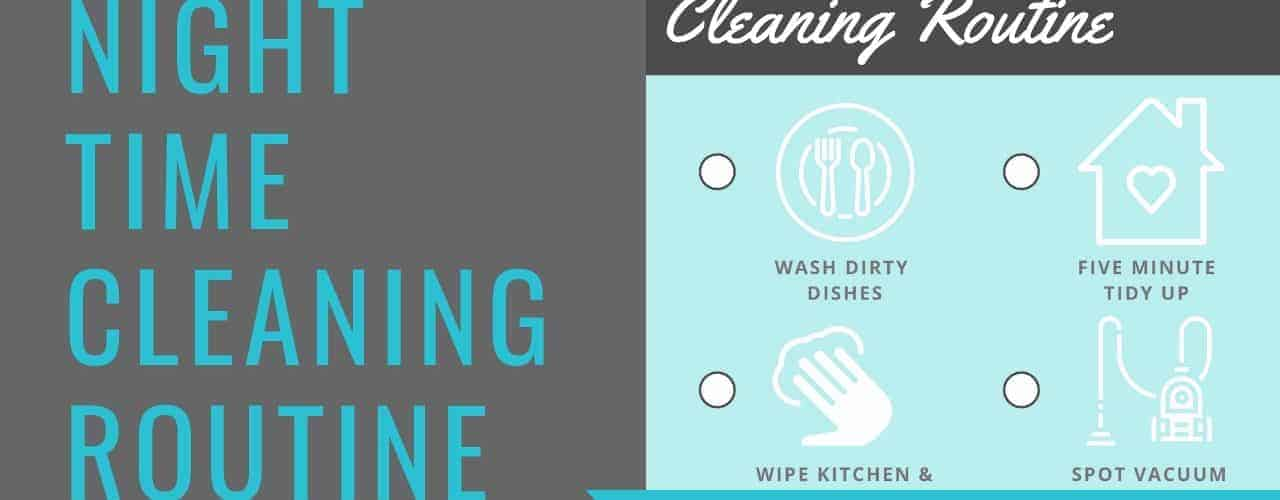 Night Time Cleaning Checklist Free Printable