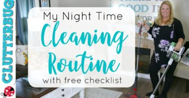 🌙My Night Time Cleaning Routine – Free Cleaning Checklist!