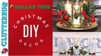 DIY Dollar Tree Christmas Decor Ideas – Easy Centerpiece