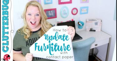 How to Update Furniture with Contact Paper!