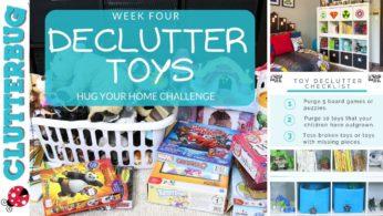 Declutter Kids Toys – Week 4 – Hug Your Home Challenge