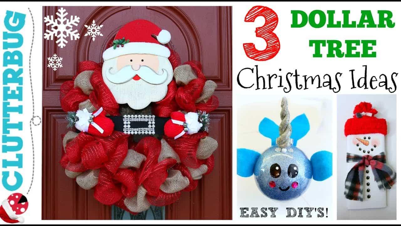 3 DIY Dollar Tree Christmas Ideas