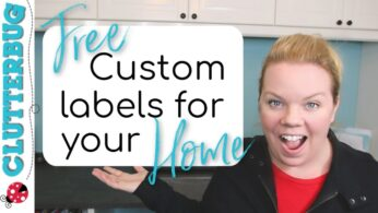 How to Make FREE Custom Labels For Your Home