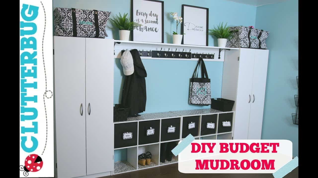 Create More Storage In Your Home On A Budget Diy Mudroom
