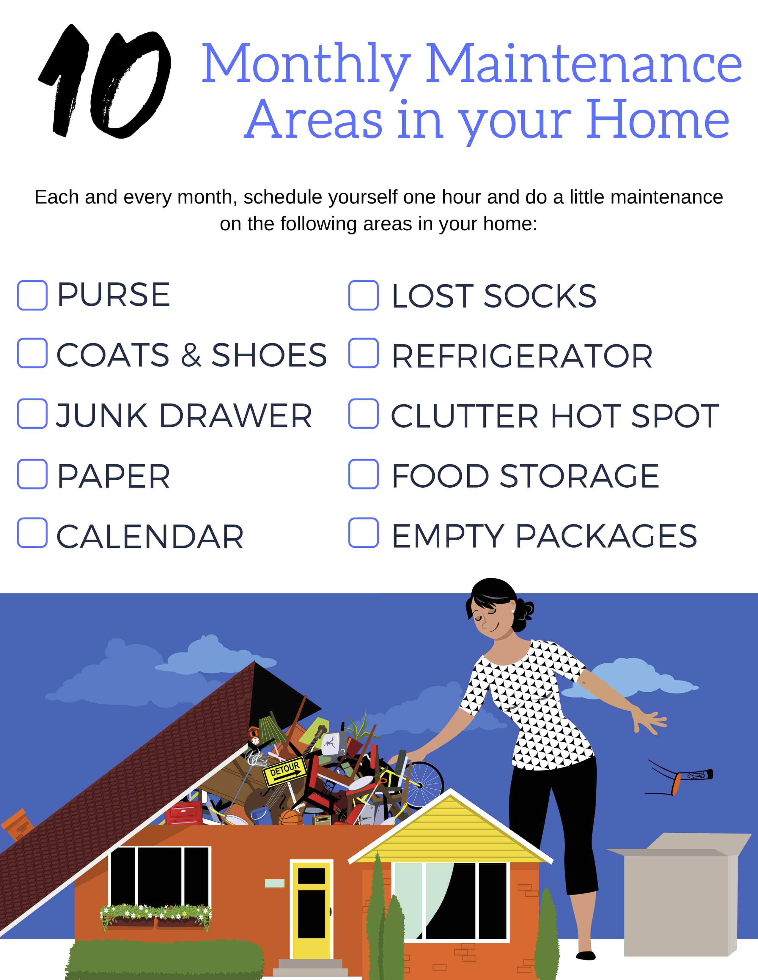 10 areas in your home that need monthly maintenance.