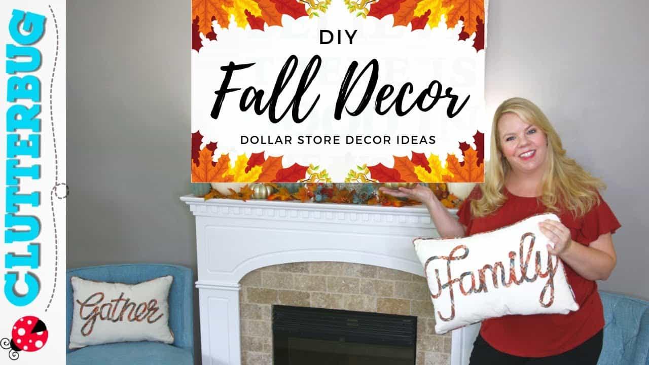 Dollar Store Autumn Decor