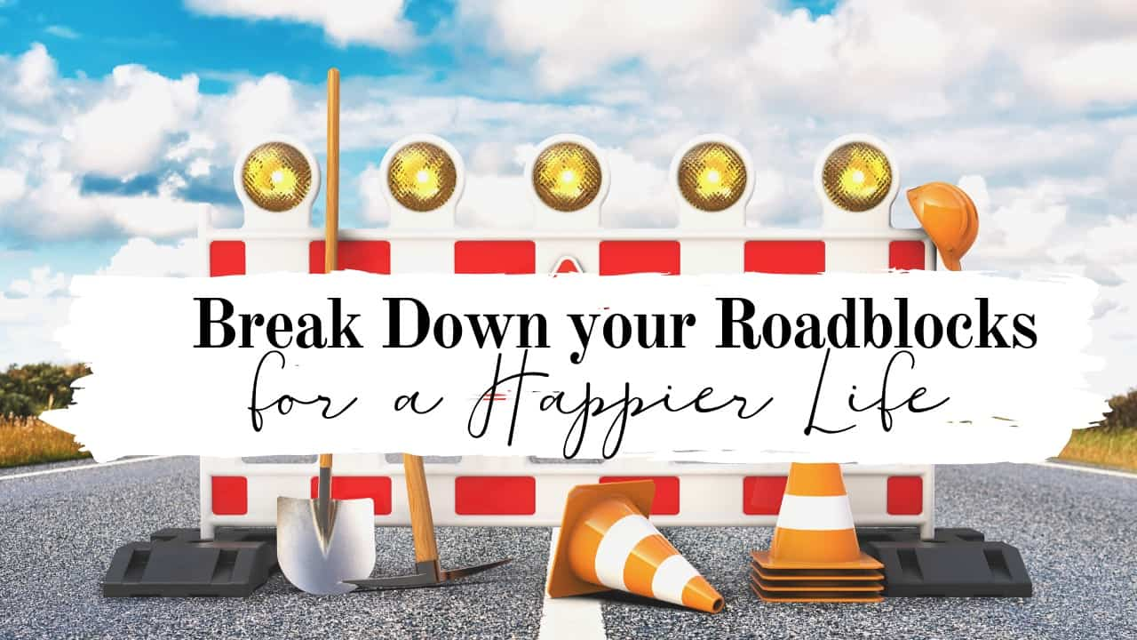 Break Down your Roadblocks for a Happier Life