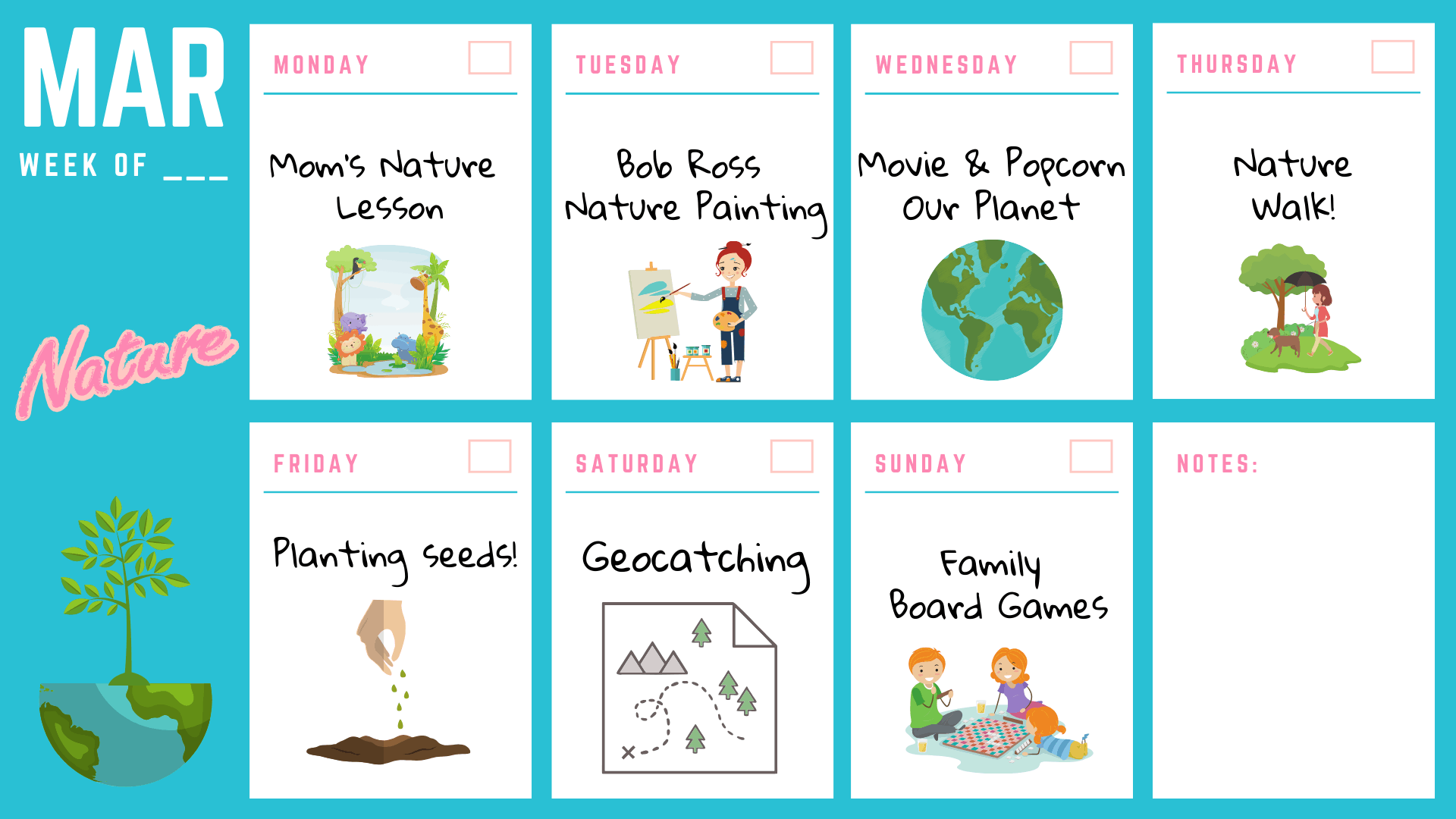 Free Kids Activity Calendar – March