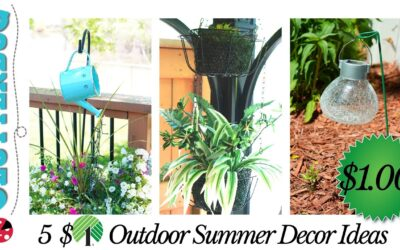 5 Dollar Store Backyard Decorating Ideas – Dollar Tree & Dollarama