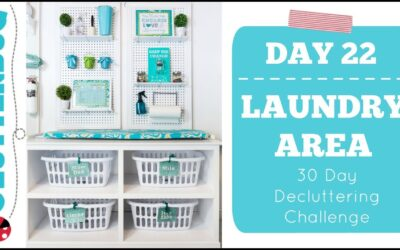 Day 22 – Laundry Area – 30 Day Decluttering Challenge
