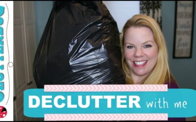 Decluttering with Me – Garbage Bag Therapy Tip!