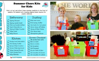 Kids Summer Morning Routine – Chores, Kits and Checklists