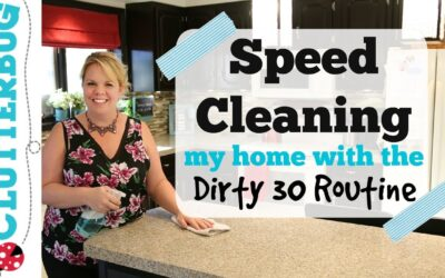 Speed Cleaning My House with Dirty 30 Routine – ADHD Speed Clean with Me