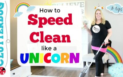 "Speed Cleaning Like a Unicorn – 5 Tips to ""Fake"" a Clean House"