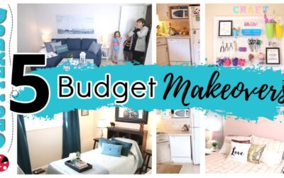5 Budget Room Makeovers – Cluttered to Clean Before and Afters