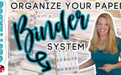 How to Organize Paper using a Binder System – Free Printables