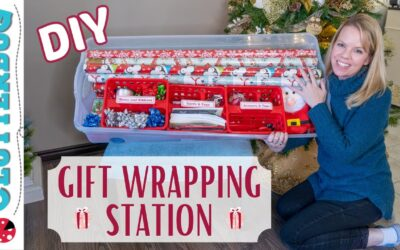 DIY Gift Wrapping Station & Best Hiding Spots for Christmas Presents
