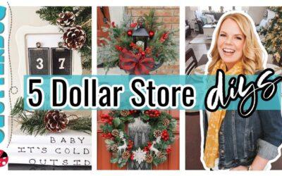 *NEW* 5 EASY & CHEAP DIY Dollar Tree Christmas Decor Ideas