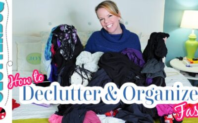 Declutter and Organize Clothes and your Bedroom Fast!